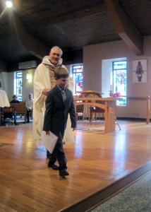 Receiving First Eucharist